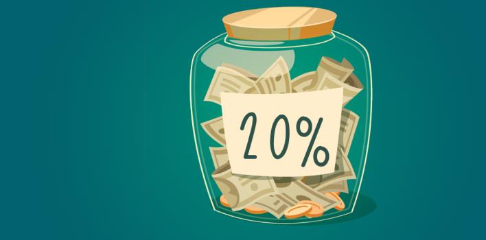 Cómo lograr el 20% de ahorro