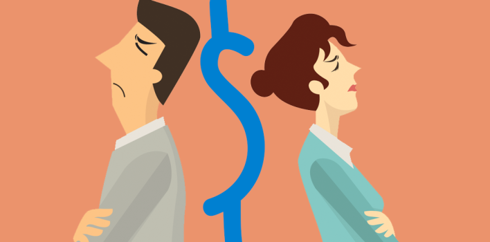 Discusiones de dinero en pareja