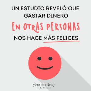 Frase: Un estudio reveló que gastar dinero en otras personas nos hace más felices