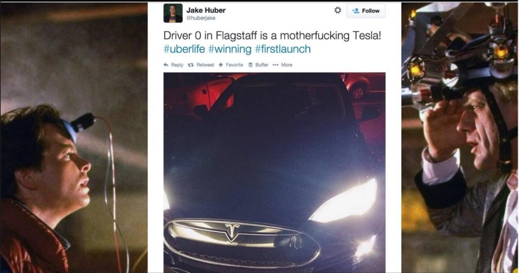 Tweet de uno de los representantes de Uber en Flagstaff Arizona