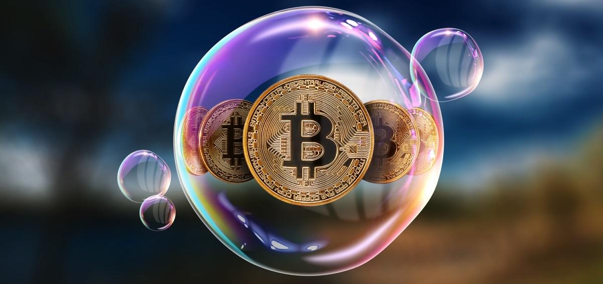 Bitcoin dentro de una burbuja