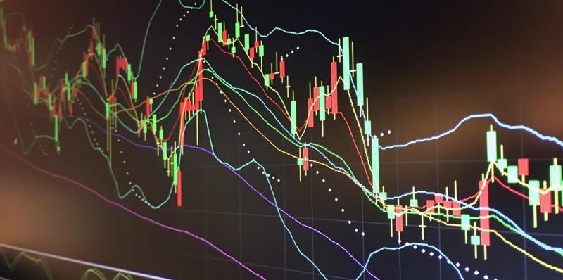 Bolsa de valores fluctuando